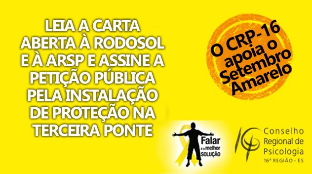Leia a Carta Aberta à Rodosol e à ARSP solicitando a instalação de redes de proteção na Terceira Ponte